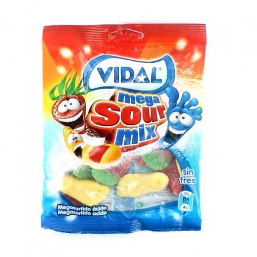 فيدال – حلوى ميجا حامض ميكس 100 جم