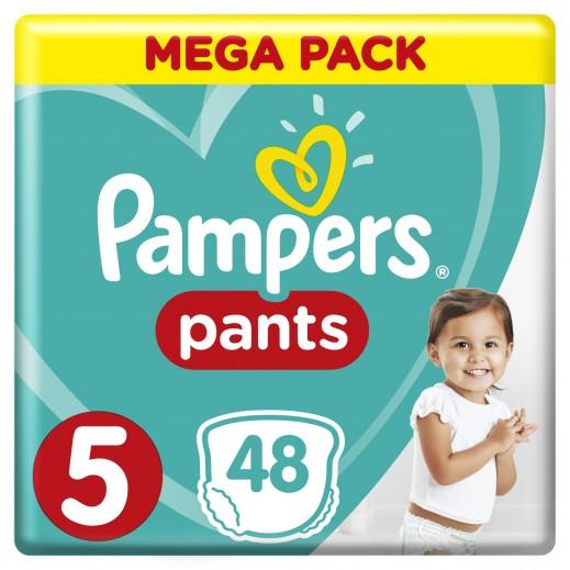 بامبرز - حفاضات بانتس بنطال للأطفال مقاس 5 جونيور (12 - 18 كجم) 48 حفاضة