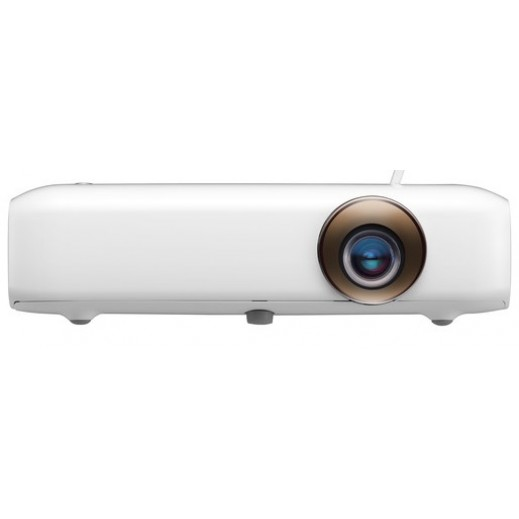 LG Minibeam LED Projector with Built-In Battery, White  - يتم التوصيل بواسطة Al Babtain Electronics Company