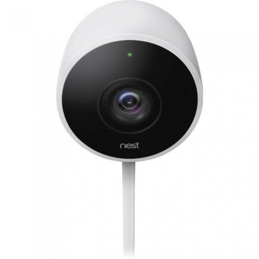 نيست – كاميرا مراقبة خارجية 1080p – ابيض