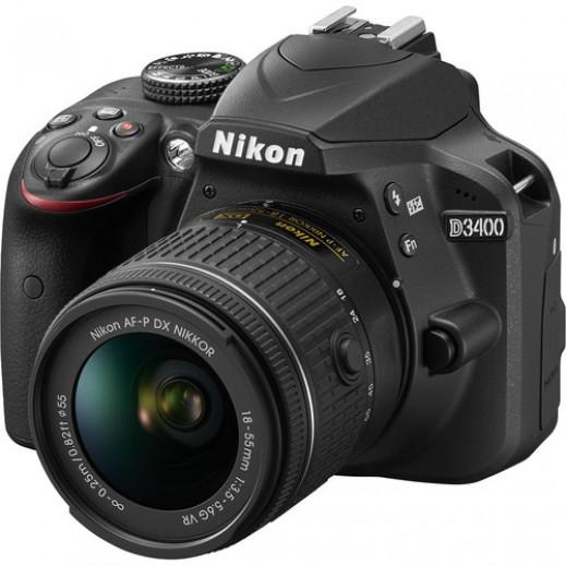نيكون حزمة كاميرا 24.2MP  رقمية عدسة 18-55 ملم VR - يتم التوصيل بواسطة Sharaf DJ
