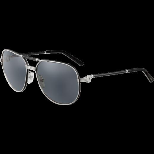 كارتير – نظارة شمسية (Must De Cartier) أسود للرجال  - يتم التوصيل بواسطة Waleed Optics