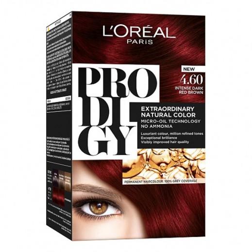 """لوريل باريس – صبغة شعر """"Prodigy"""" الطبيعية رقم 4.6 لون قرمزي"""