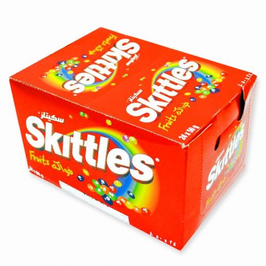 سكيتليز - حلوي الفواكة الطبيعية - كرتون 12حبة × 38جم