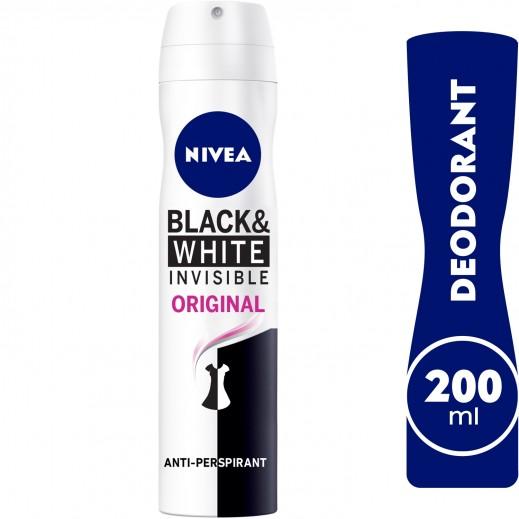 """نيڤيا – مزيل عرق """" إنڤيزيبل"""" سبراي للملابس السوداء والبيضاء  للسيدات  200 مل"""