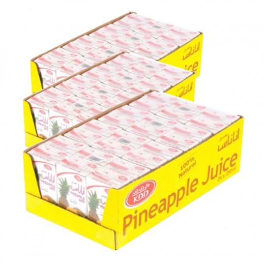 كى دى دى - عصير الأناناس 250 مل ( 3 كرتون × 24 حبة ) - أسعار الجملة
