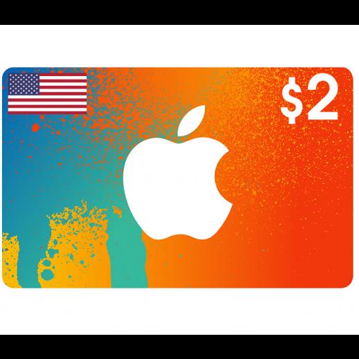 بطاقة أي تونز بقيمة 2 دولار حساب أمريكي - توصيل عن طريق الإيميل