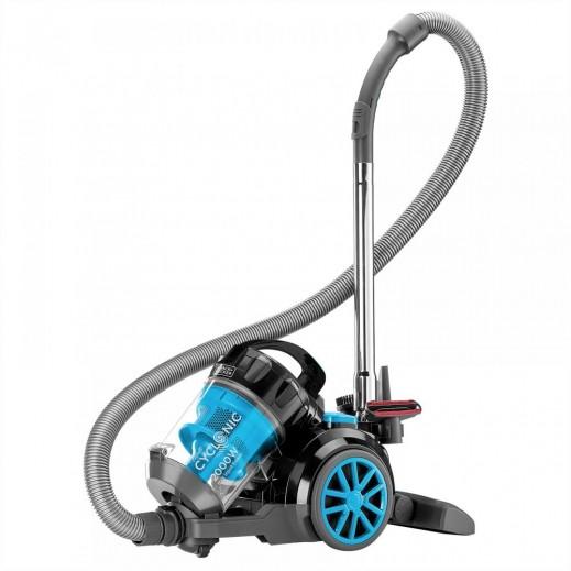 بلاك أند ديكر – مكنسة كهربائية Cyclonic بدون كيس أتربة 2000 واط – أزرق - يتم التوصيل بواسطة Gulf Group