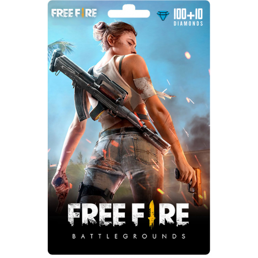 بطاقة فورية للعبة Free Fire بقيمة 1 دولار 100 + 10 ماسة