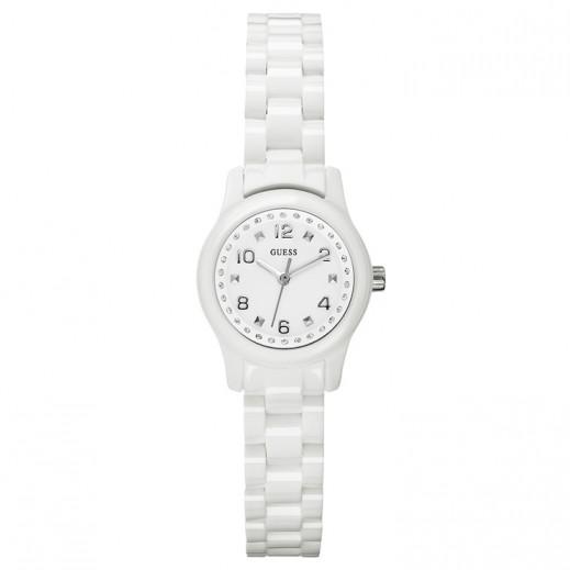 جيس - ساعة للنساء، أبيض  - يتم التوصيل بواسطة التوصيل بعد 3 أيام عمل بواسطة بيضون