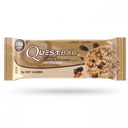 كويست بار – لوح البروتين الطبيعي بنكهة الشوكولاتة والشوفان 60 جم
