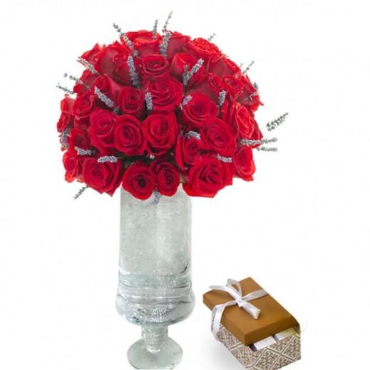 فازة زهور اللافندر  - يتم التوصيل بواسطة Covent Palace