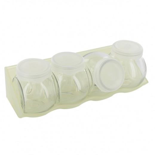 كليك بورميولي روكو – طقم أوعية زجاجية 4 حبة – شفاف