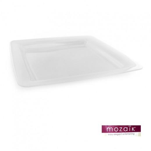 موزايك – أطباق مربعة بيضاء 9.5 إنش (12 حبة)