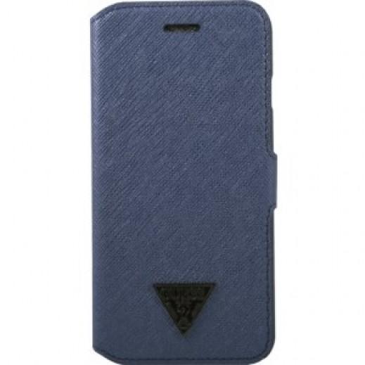 غطاء GUESS BOOKTYPE لأيفون 6 بلاس - أزرق