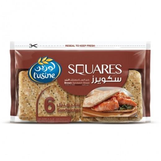 لوزين سكويرز خبز الساندوتش البُر 252 جم