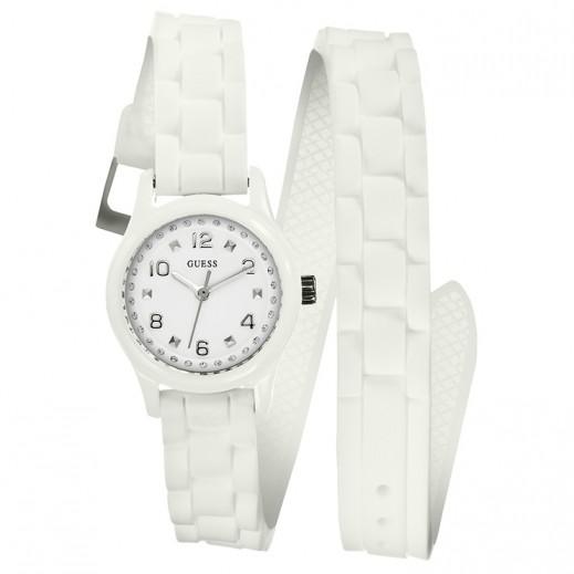 جيس - ساعة للنساء، حزام سليكون، أبيض - يتم التوصيل بواسطة التوصيل خلال 2 أيام عمل بواسطة بيضون