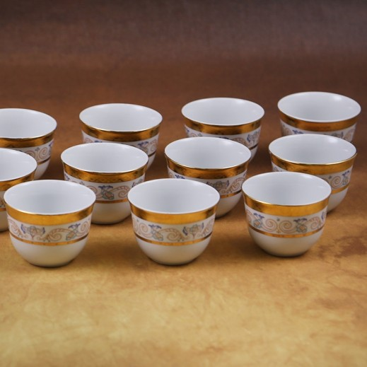 توجنانا – طقم فناجين قهوة بتصميم الورود 12 قطعة