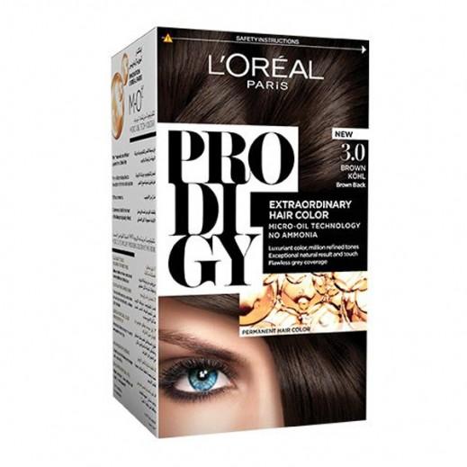 """لوريل باريس – صبغة شعر """"Prodigy"""" الطبيعية رقم 3 لون الكحل"""