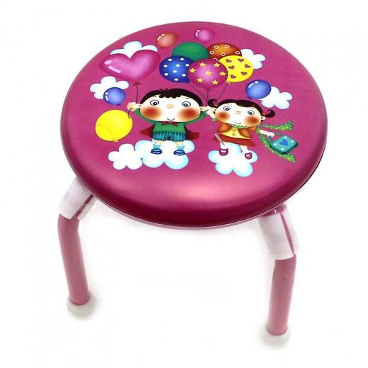 كرسي الأطفال برسومات جميلة – وردي