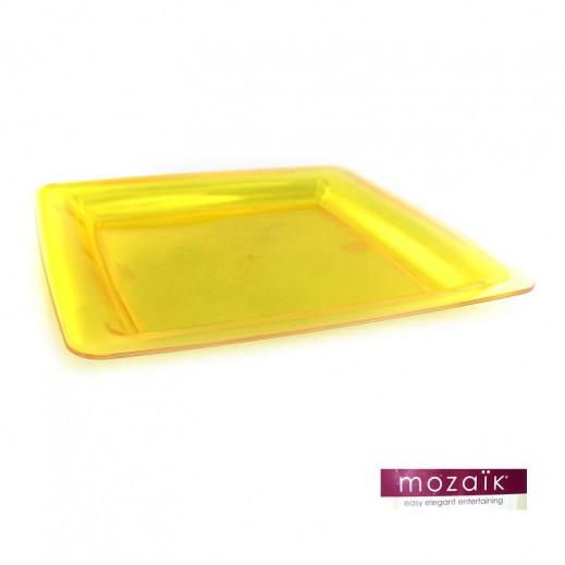 موزايك – أطباق مربعة صفراء 23 سم (6 حبة)