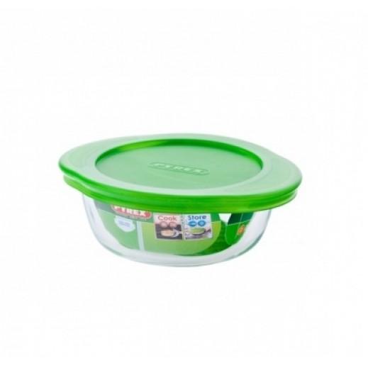 بايركس - وعاء تخزين الطعام مع غطاء 1.1 لتر