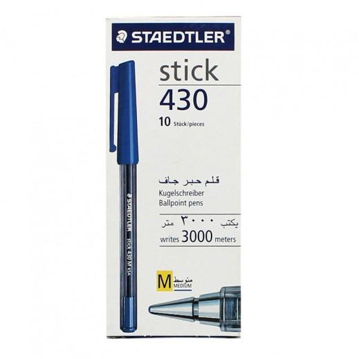 ستدلر – قلم حبر جاف ستيك 430 – أزرق (10 أقلام)