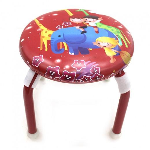 كرسي الأطفال برسومات جميلة – أحمر