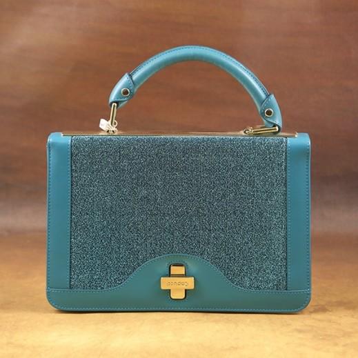 كابوتشي – حقيبة يد جلد للسيدات - أزرق HC6024BL