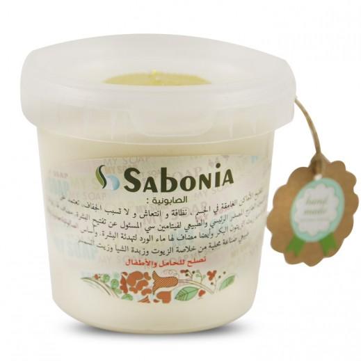 صابونيا - صابون طبيعي يدوي الصنع من الليمون وماء الورد 400 جم
