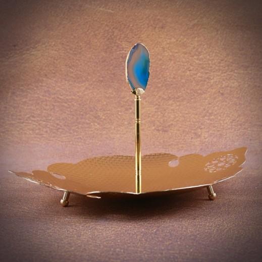 أوتانتيك - صينية تقديم صغيرة – ذهبي