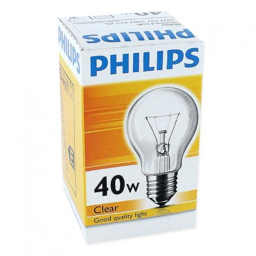 فيليبس – مصباح شفاف E27 – بقوة 40 واط