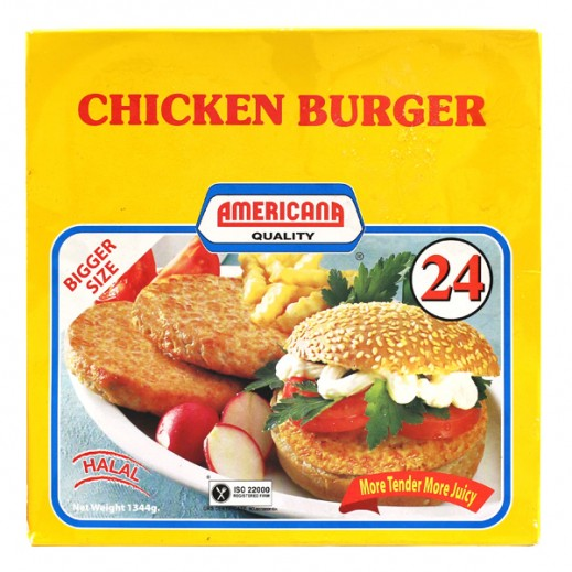 أمريكانا – برجر الدجاج 24 قطعة 1.344 جم