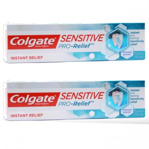كولجيت – معجون الأسنان برو للتسكين الفوري لآلام الأسنان واللثة 75 مل (2 حبة) - عرض التوفير