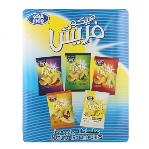فيكو – صندوق بطاطا طبيعية متنوع الأطعمة 14 حبة×27 جم