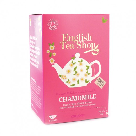 إنجلش تي شوب – شاي بنكهة البابونج العضوي 20 كيس (30 جم)