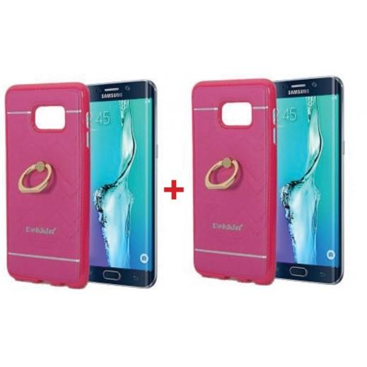 اشتر واحد واحصل على الثاني مجانا غطاء DEKKIN لجهاز S6 ايدج بلاس  - وردي