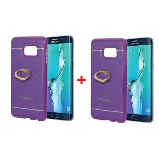 اشتر واحد واحصل على الثاني مجانا غطاء DEKKIN لجهاز S6 ايدج بلاس  - بنفسجي