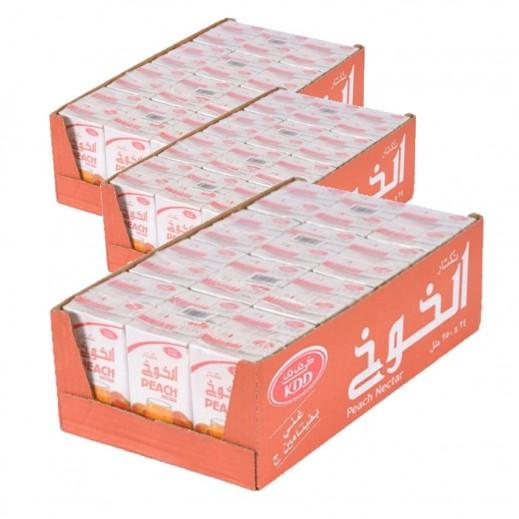 كى دى دى - عصير الخوخ نكتار 250 مل ( 3 كرتون × 24 حبة ) - أسعار الجملة