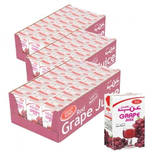 كى دى دى - عصير العنب الأحمر 250 مل ( 3 كرتون × 24 حبة ) - أسعار الجملة