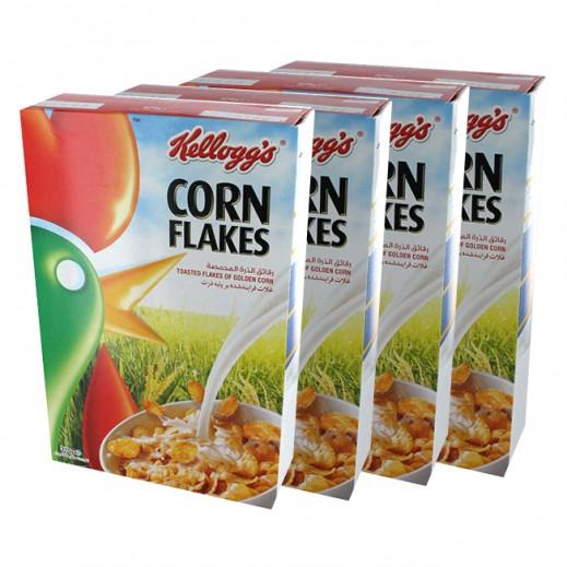 """كلوقز – رقائق الذرة المحمصة """"كورن فليكس"""" 375 جم (4 حبة) - عرض التوفير"""