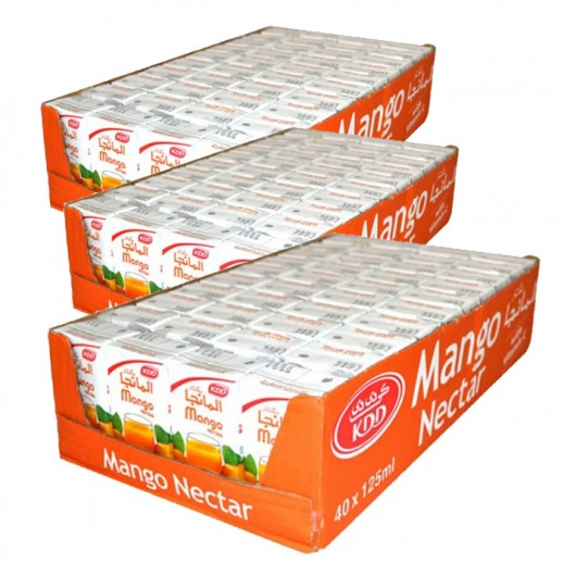 كى دى دى - عصير المانجو نكتار 125 مل ( 3 كرتون × 40 حبة ) - أسعار الجملة