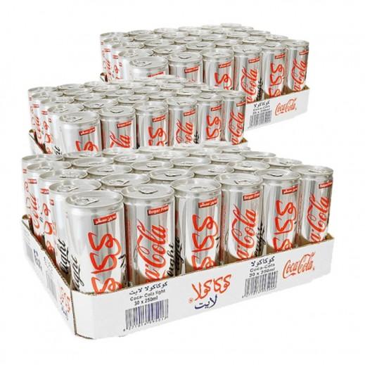 كوكا كولا لايت – مشروب غازي 250 مل ( 3 كرتون × 30 حبة ) - أسعار الجملة