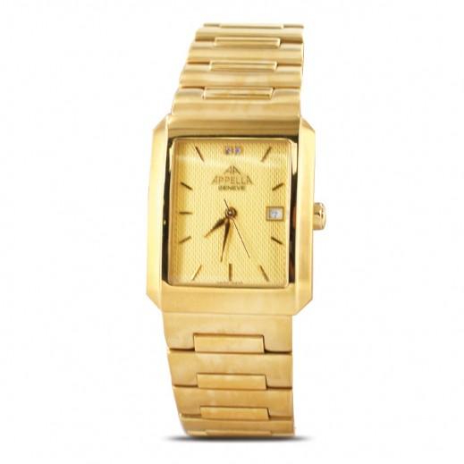 أبيلا – ساعة يد سويسرية للرجال بحزام ستانليس ستيل ذهبي (AP-543.01.0.0.05)