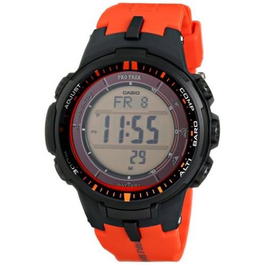 كاسيو – ساعة بروترك الرقمية للرجال تعمل بالطاقة الشمسية موديل PRW3000-4DR