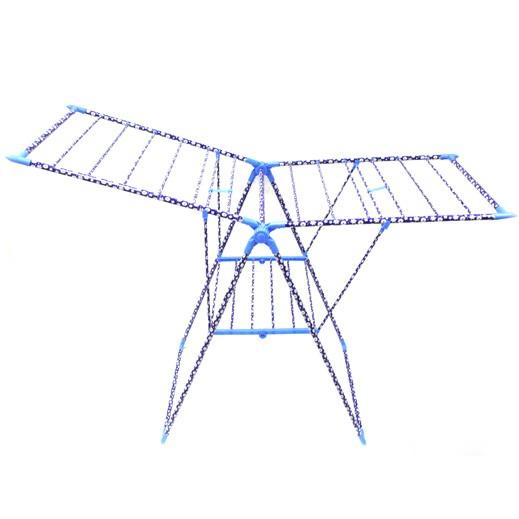 منشر من الستانليس ستيل لتجفيف الملابس – أزرق (150 x  56 سم)
