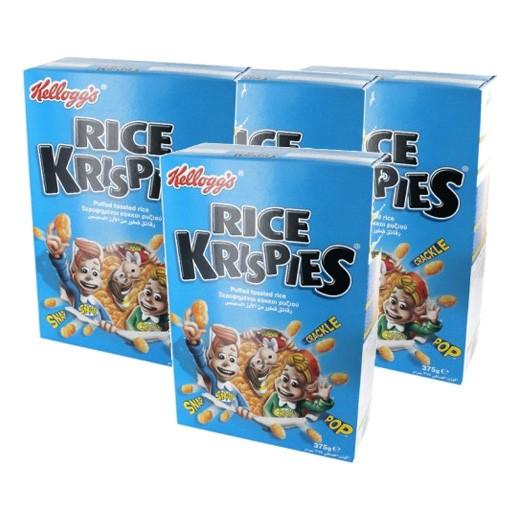 """كلوقز – رقائق فطور """" رايس كريسبيز """" من الأرز المحمص 375 جم × 4 حبة - عرض التوفير"""