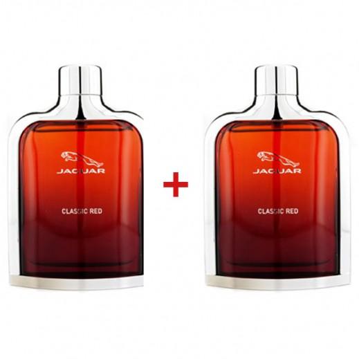 جاكوار – عرض خاص عطر كلاسيك أحمر للرجال (2 × 100 مل)