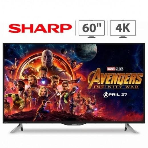 شارب – تلفزيون ذكي 60 بوصة UHD 4K LED فائق الجودة – أسود - يتم التوصيل بواسطة EASA HUSSAIN AL YOUSIFI & SONS COMPANY