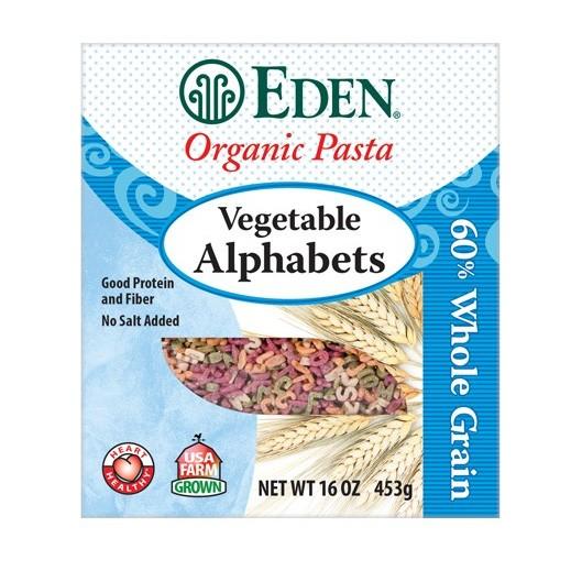 إيدن – باستا (معكرونة) بشكل الحروف الأبجدية نباتية عضوية 453 جرام